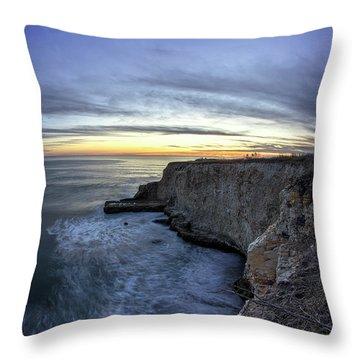 Davenport Bluffs At Sunset Throw Pillow