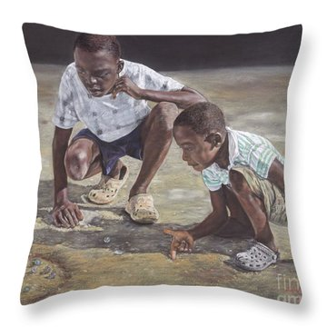 David And Goliath Throw Pillow
