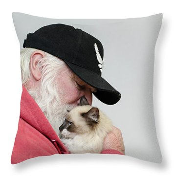 David And Mr Atkin Throw Pillow