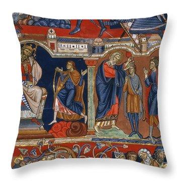 David And Saul Throw Pillow by Granger