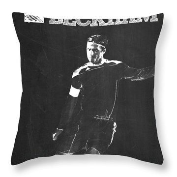 David Beckham Throw Pillow by Semih Yurdabak