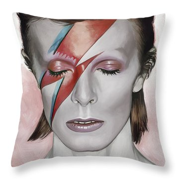 David Bowie Artwork 1 Throw Pillow by Sheraz A