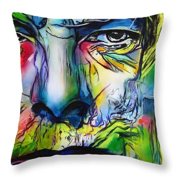 David Bowie Throw Pillow by Eric Dee