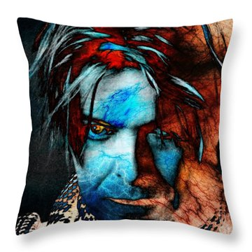 David Bowie / Keep Your 'lectric Eye On Me, Babe Throw Pillow