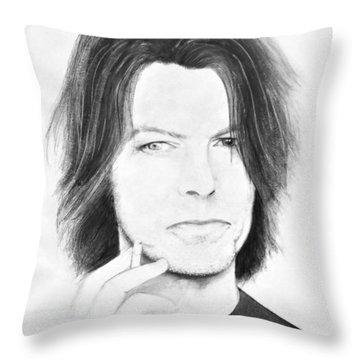 David Bowie - No Pressure Throw Pillow