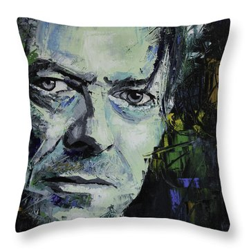 David Bowie Throw Pillow by Richard Day