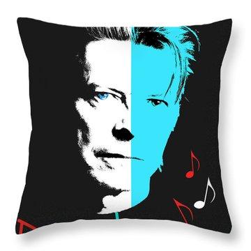 David Bowie Throw Pillow