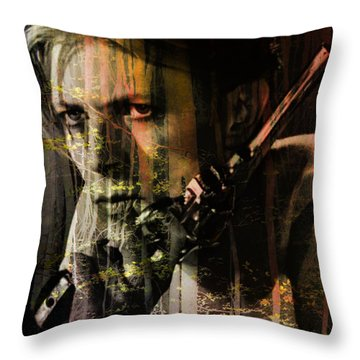 David Bowie / The Man Who Fell To Earth  Throw Pillow by Elizabeth McTaggart