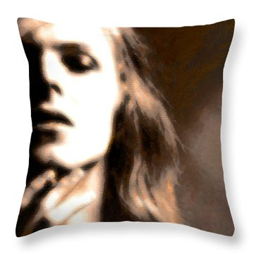David Bowie / Through The Dream State Softly  Throw Pillow