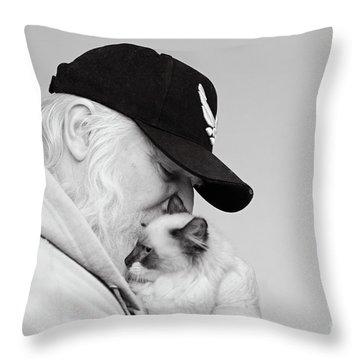 David Bw Throw Pillow