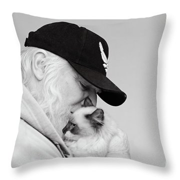 David Bw Throw Pillow
