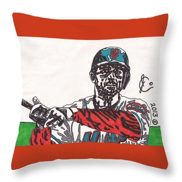 David Wright 2 Throw Pillow by Jeremiah Colley