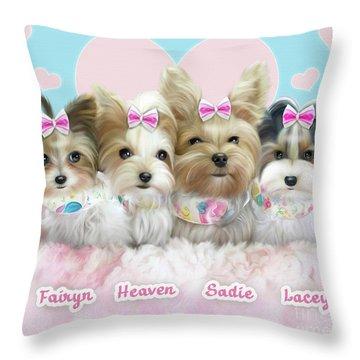 Davidson's Furbabies Throw Pillow by Catia Cho