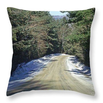 Throw Pillow featuring the photograph Davis Hill Road by Christian Mattison
