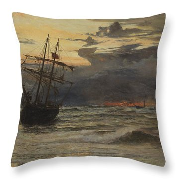 Dawn After The Storm Throw Pillow by William Lionel Wyllie