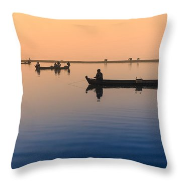 Dawn, Amarapura Throw Pillow