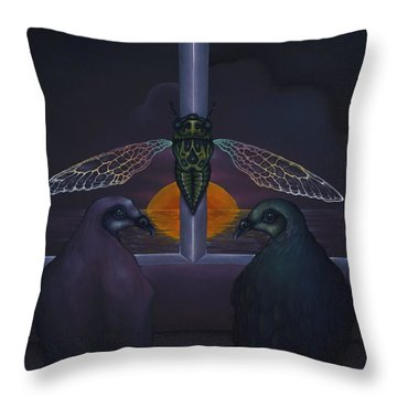 Dawn And The Echo Of Confession Throw Pillow