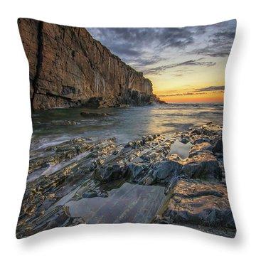 Dawn At Bald Head Cliff Throw Pillow