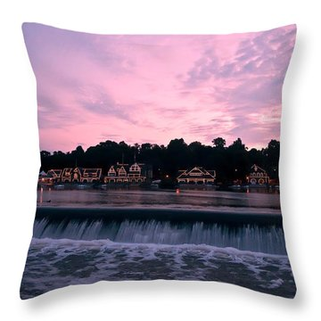 Dawn At Boathouse Row Throw Pillow by Bill Cannon