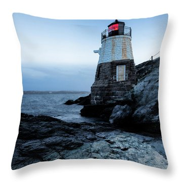 Throw Pillow featuring the photograph Dawn At Castle Hill Lighthouse by Andrew Pacheco