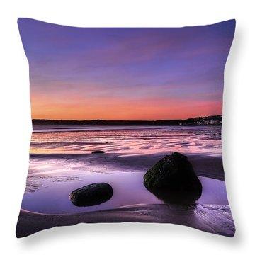 Dawn At Filey Throw Pillow by Svetlana Sewell
