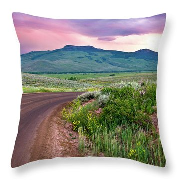 Dawn At Flattop Mountain Throw Pillow