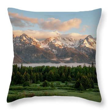 Dawn At Grand Teton National Park Throw Pillow