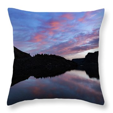 Throw Pillow featuring the photograph Dawn At Lake Billy Chinook by Cat Connor