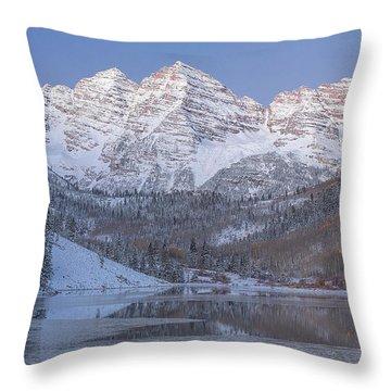 Dawn At Maroon Bells 2 Throw Pillow