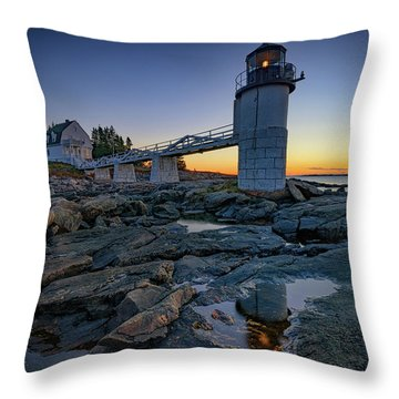 Dawn At Marshall Point Throw Pillow by Rick Berk