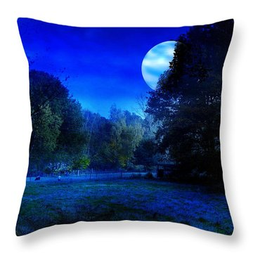 Dawn At Night Throw Pillow by Bernd Hau