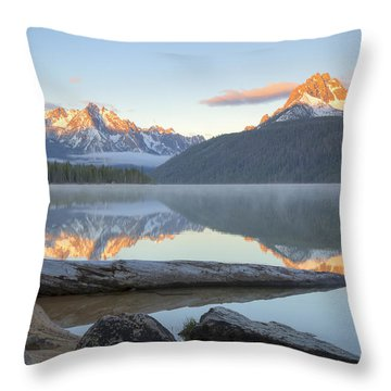Dawn At Redfish Throw Pillow