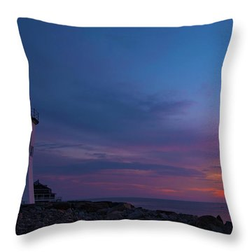 Dawn At Scituate Light Throw Pillow