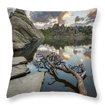 Throw Pillow featuring the photograph Dawn At Sylvan Lake by Adam Romanowicz