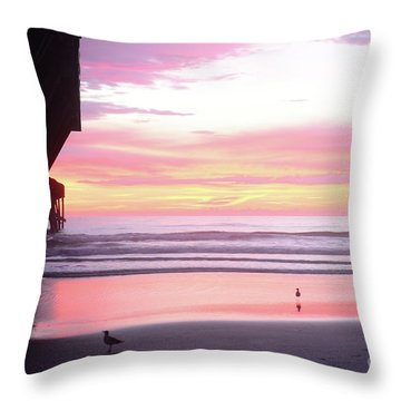 Dawn At The Beach 8-14-16 Throw Pillow