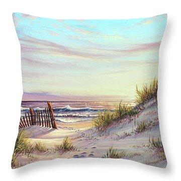 Dawn At The Beach Throw Pillow