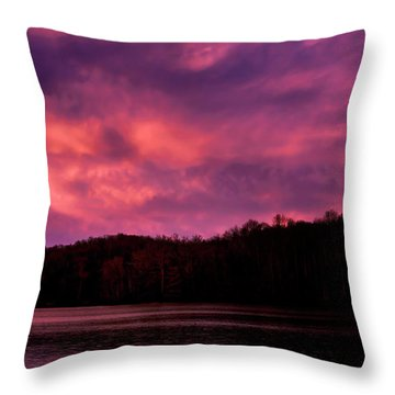 Throw Pillow featuring the photograph Dawn At The Dock by Thomas R Fletcher