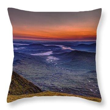 Dawn At The Merrick Summit Throw Pillow