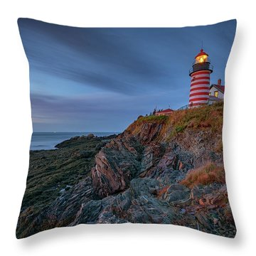 Throw Pillow featuring the photograph Dawn At West Quoddy Head by Rick Berk