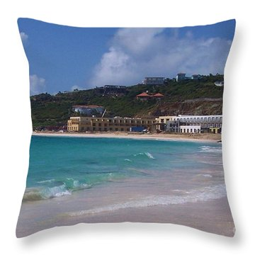 Dawn Beach Throw Pillow