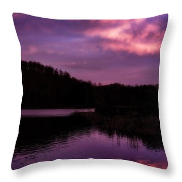 Throw Pillow featuring the photograph Dawn Big Ditch Wildlife Management Area by Thomas R Fletcher