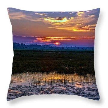 Dawn Breaking Over Saint Marks Throw Pillow