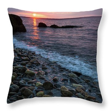 Throw Pillow featuring the photograph Dawn, Camden, Maine  -18868-18869 by John Bald