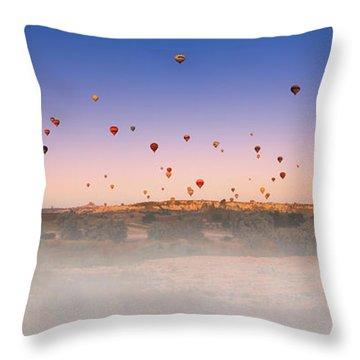 Dawn, Cappadocia Throw Pillow by Marji Lang