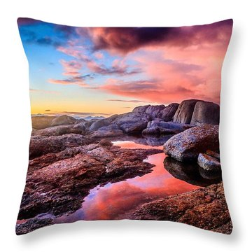 Dawn Colours Throw Pillow