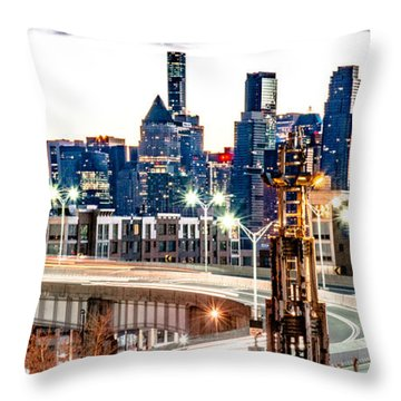 Dawn Commute Throw Pillow