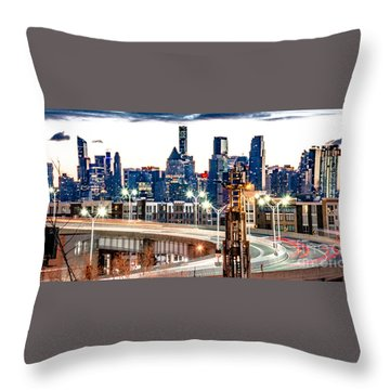 Dawn Commute Throw Pillow