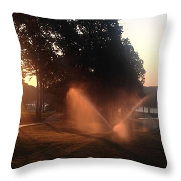 Dawn Golf Course Throw Pillow