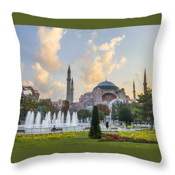 Dawn Hagia Sophia Istanbul Throw Pillow