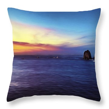 Dawn In Cabo Throw Pillow